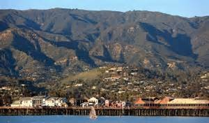 Stand up paddle board view Santa Barbara California