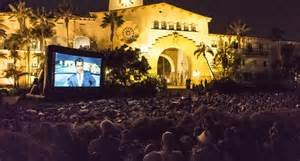 Movie night in the Sunken Gardens Santa Barbara, California
